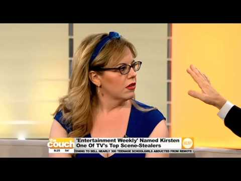 """Criminal Minds"" Star Kirsten Vangsness On The Couch"
