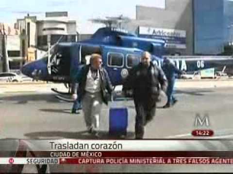 Tiran por accidente coraz�n a trasplantar en Hospital La Raza
