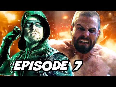 Arrow Season 7 Episode 7 Battle Royale Fight and The Flash Elseworlds Trailer