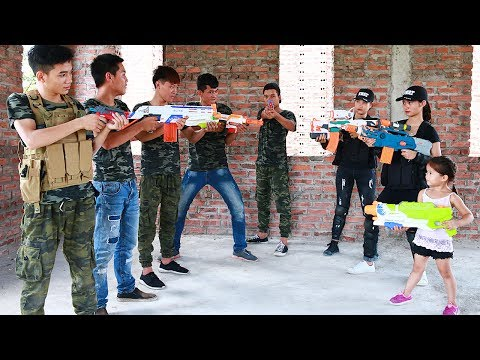 Video Superhero action S.W.A.T GIRL Nerf guns Diamond Robbery Hero man rescue Lady Nerf war download in MP3, 3GP, MP4, WEBM, AVI, FLV January 2017