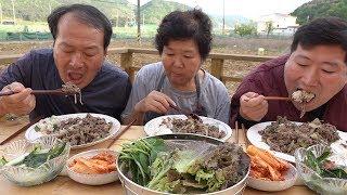 깻잎, 쌈채소와 함께 [[불고기 덮밥(Bulgogi with Rice )]] 요리&먹방!! - Mukbang eating show