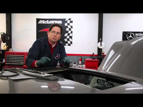 Sunroof Seal Inspection on Mercedes Benz Non-Tilting Sunroofs