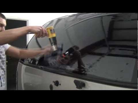 How To Tint An SUV Rear Hatch Window : PART 1