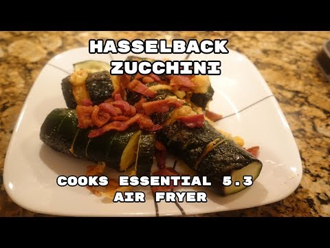 AIR FRIED HASSELBACK ZUCCHINI - COOKS ESSENTIAL AIR FRYER