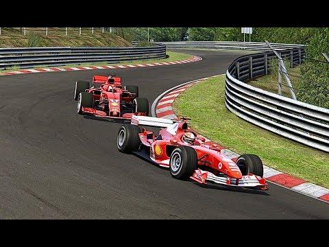 Ferrari F1 2018 vs Ferrari F1 2004 - Nordschleife