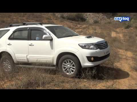 Toyota Fortuner off-roading video review, CarToq.com road test of 2012 Toyota Fortuner SUV India