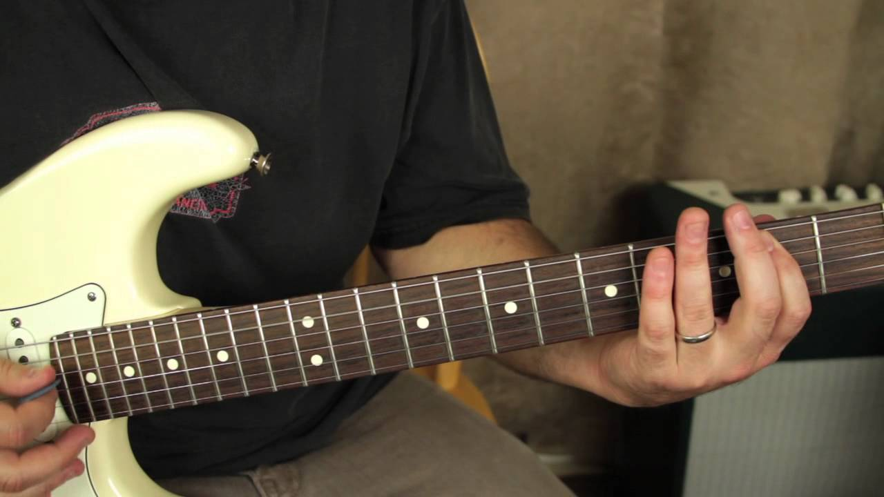 Stevie Ray Vaughan – Pride and Joy – How to play on guitar – tutorial – opening