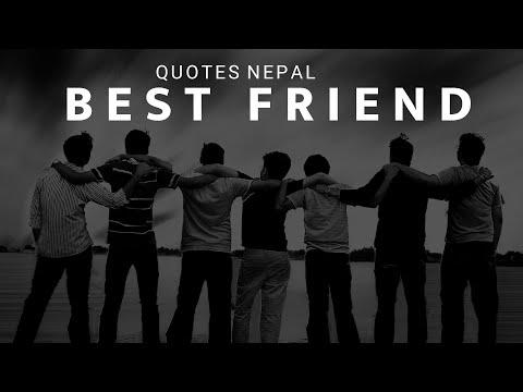 Quotes on friendship - Best Friend  प्यारो साथी  Friendship Quote  Quotes Nepal  Roshan Dhukdhuki
