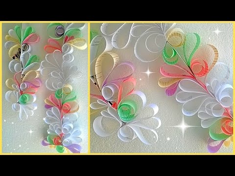 Paper swirls room decoration diy njc for Paper swirl decorations