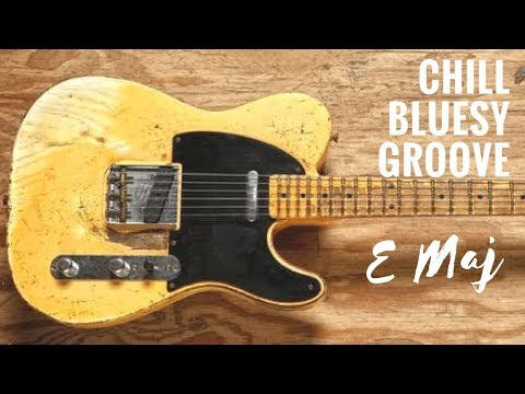 Chill Bluesy Groove | Guitar Backing Track Jam In E