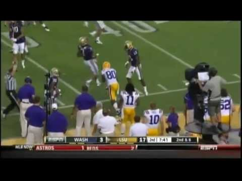 Zach Mettenberger (QB LSU) vs Washington 2012 video.