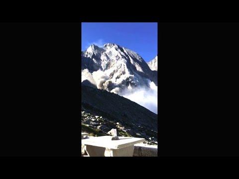 Glissement de terrain en Suisse: les disparus ont été emportés par l'éboulement.