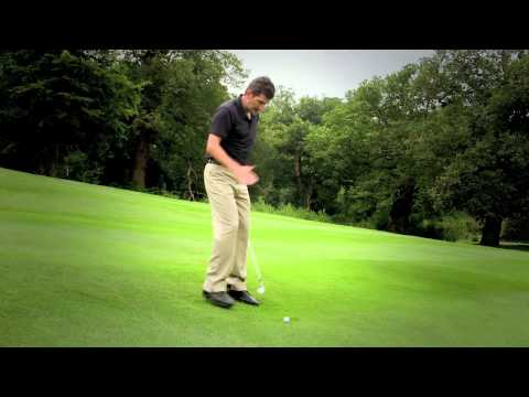 Golf Lessons: Playing from a Ball Below Feet Lie