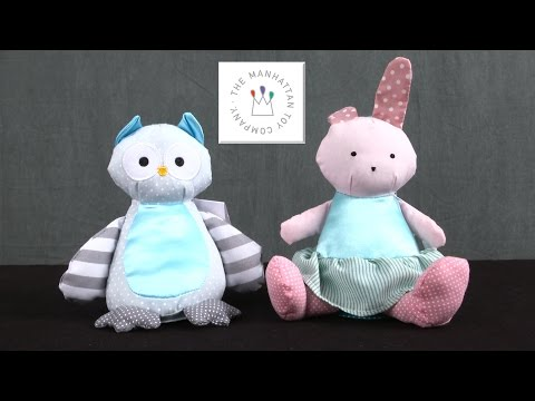 Baby Bell Bunny & Owl Stuffed Baby Toy from The Manhattan Toy Company