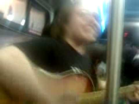 Random Drunk guy on late bus playing guitar, Hilarious, Part 5