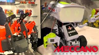 We have a hands-on demonstration of Meccano's Max robot and Mecca-Spider.
