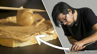 How A Food Stylist Makes A Peanut Butter & Jelly Sandwich by Tasty
