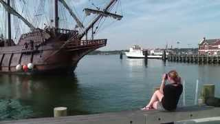 Tall ship El Galeón arrives at New London waterfront