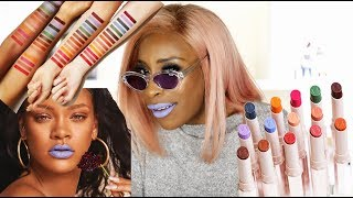 Fenty Beauty Can SQUARE UP! Mattemoiselle Lipstick Lookbook | Jackie Aina