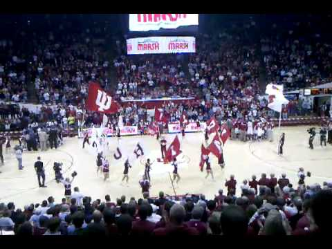 Flags at IU bball game.