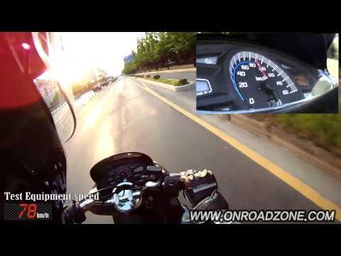 HONDA PCX 0-100km/h acceleration Test Ride video movie. (HONDA PCX 0-60mph)