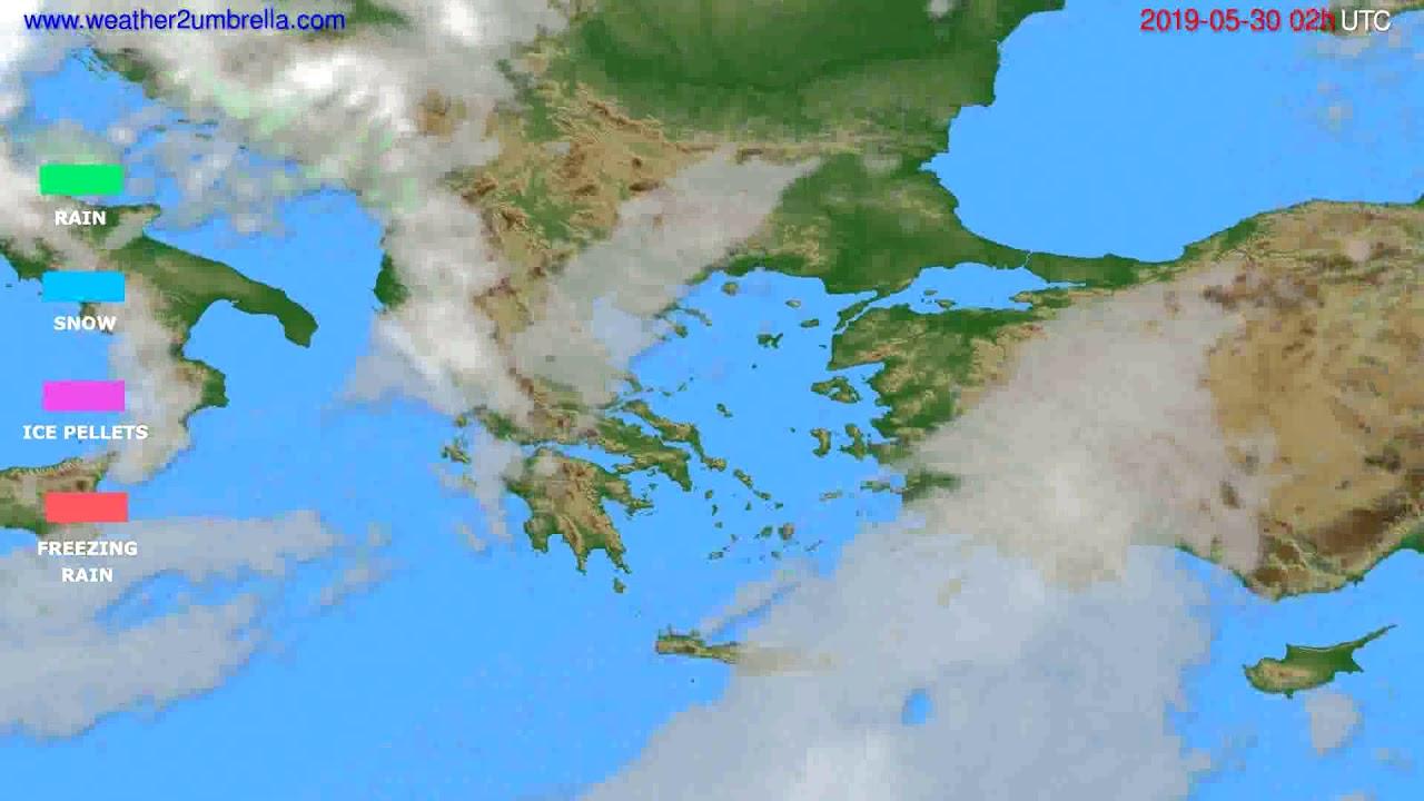 Precipitation forecast Greece // modelrun: 00h UTC 2019-05-28
