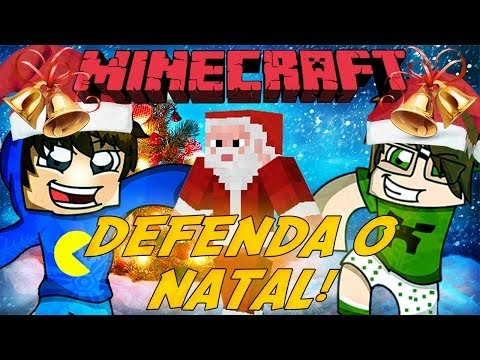 Minecraft: DEFENDA O NATAL (Mini-Game Novo)