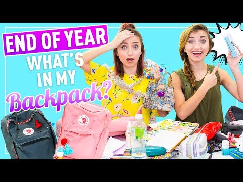 WHAT'S IN MY BACKPACK 2018  (School's Out Senior Edition) | Brooklyn And Bailey