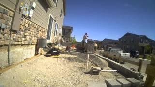 Patio construction time lapse