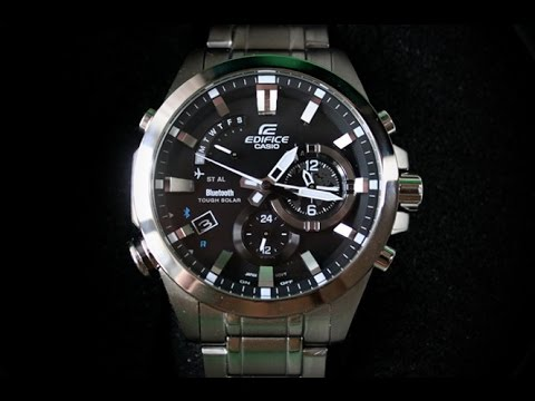 EDIFICE EQB-510D-1A | Обзор и настройка (на русском) | Купить со скидкой (видео)