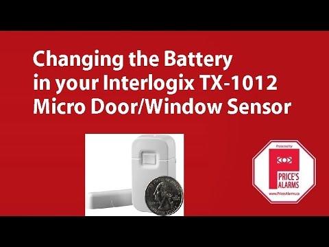 Interlogix TX-1012 Door/Window Sensor Battery Replacement