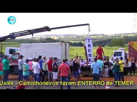 Jales - Caminhoneiros fazem ENTERRO de TEMER