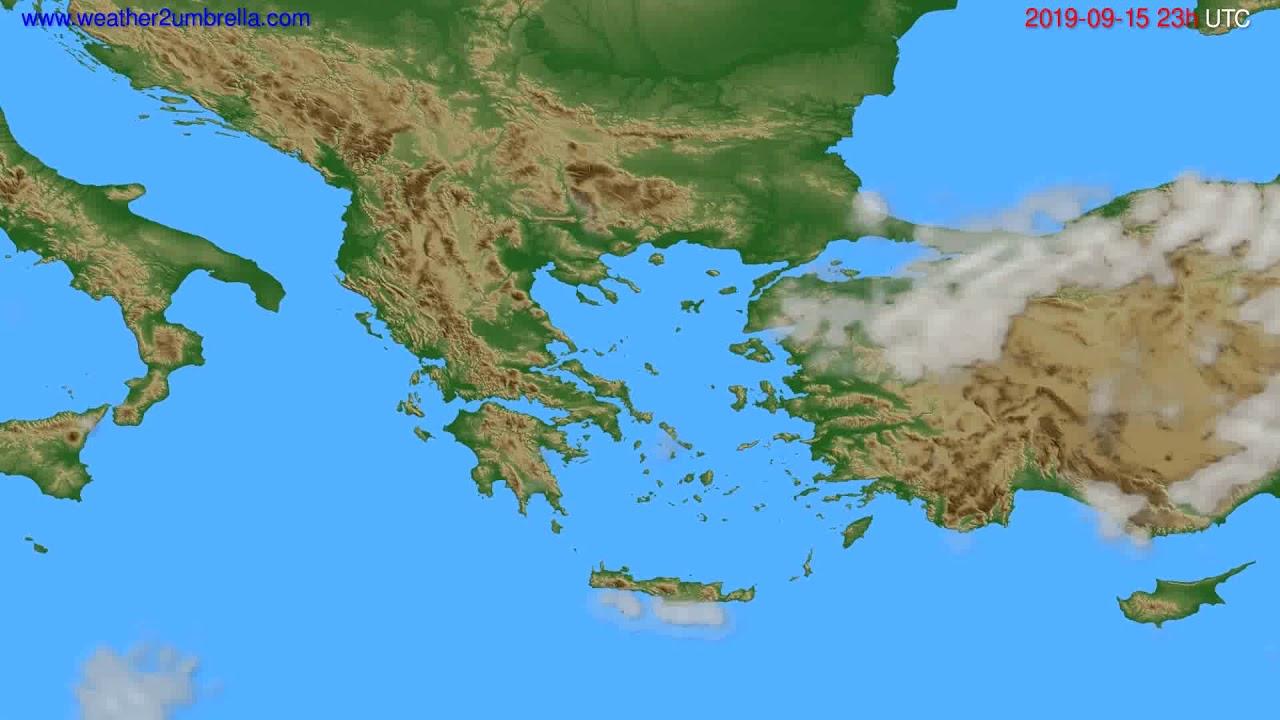 Cloud forecast Greece // modelrun: 12h UTC 2019-09-12