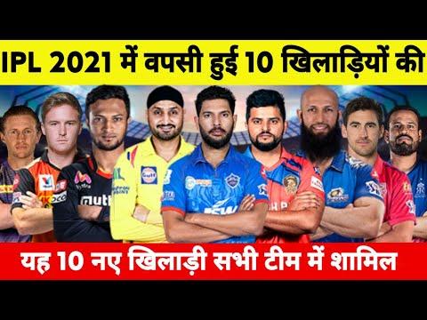 IPL 2021 : These 10 Biggest Players Return | IPL 2021 में यह 10 खिलाड़ी इन टीमों की तरफ से खेलेंगे..