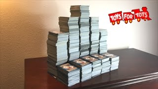 DONATING OVER 5,000 POKEMON CARDS TO TOYS FOR TOTS CHILDREN'S CHARITY!