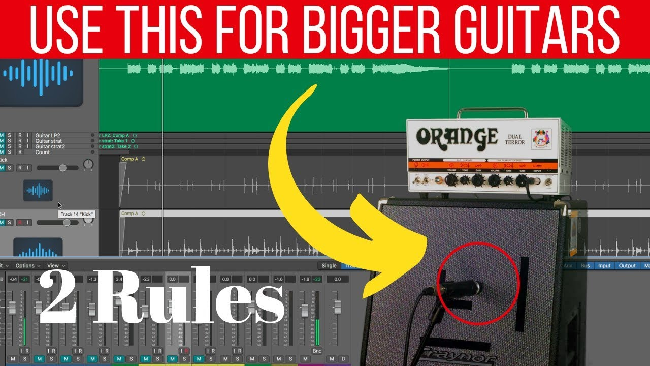 How to record (bigger) electric guitar at home