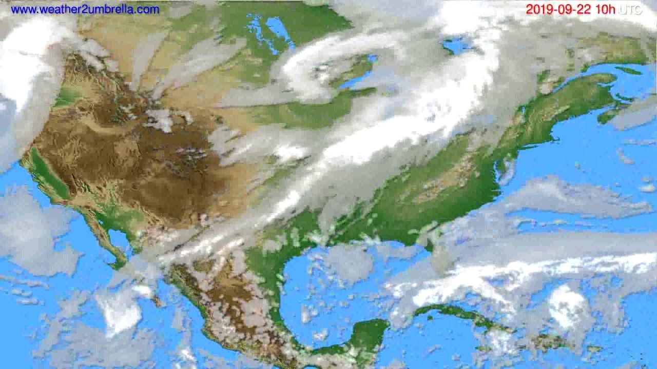 Cloud forecast USA & Canada // modelrun: 00h UTC 2019-09-20