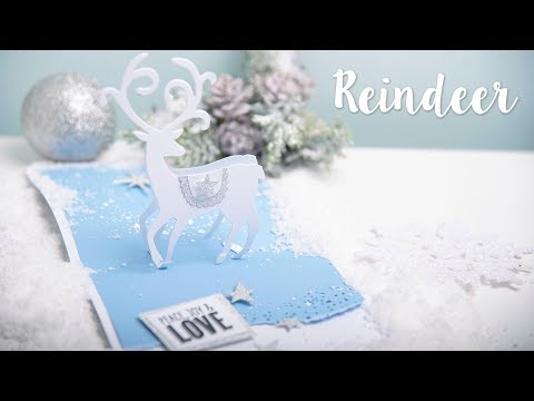 How to Make a Pop Up Reindeer Card - Sizzix