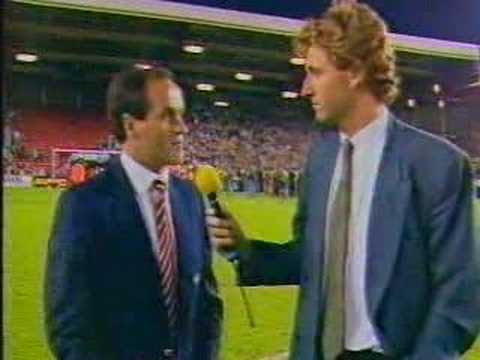 News coverage of Arsenals famous victory at Anfield 1989