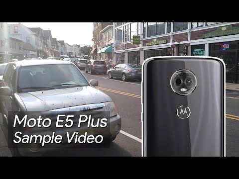 Moto E5 Plus Sample Video