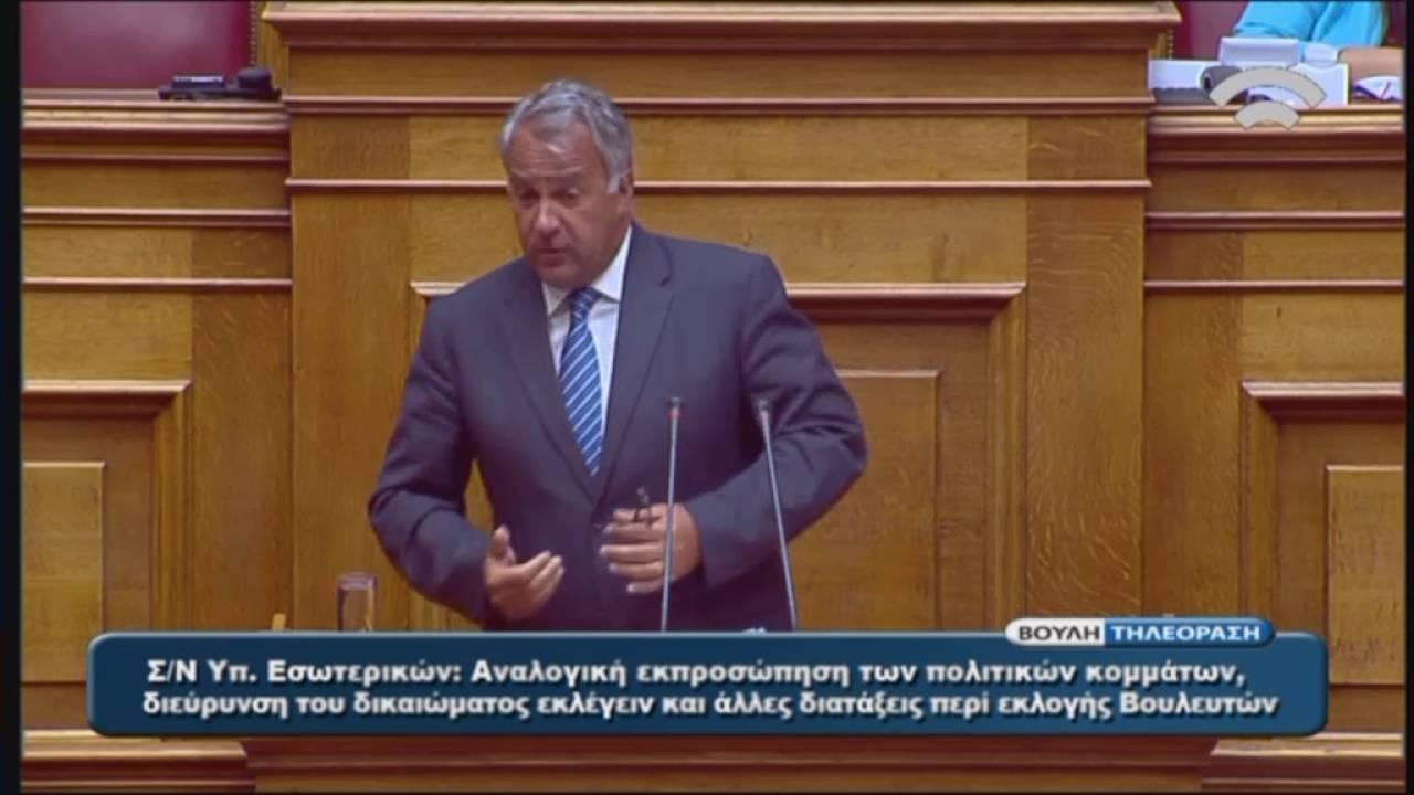 Μ. Βορίδης (Εισηγητής της Ν.Δ.)(Αναλογική εκπρ.των πολιτικών κομμάτων)(19/07/2016)