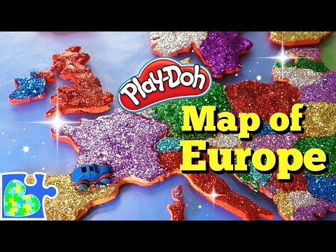 Map of Europe for Kids: Learn the Countries of Europe: Amazing Play-Doh Puzzle of the Continent!