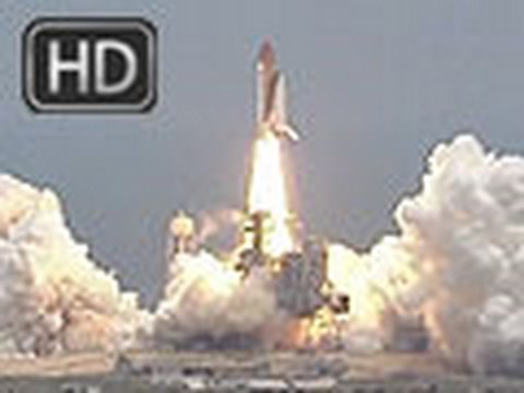 High Definition - This is the HD launch footage of Space Shuttle Atlantis blasting off for the final servicing mission to the Hubble Space Telescope.