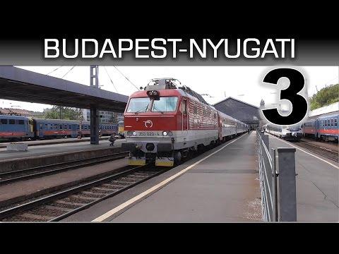 Vonatok Budapest-Nyugati pályaudvaron 3 / Trains in Budapest-West railway station 3