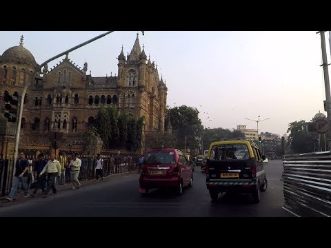 Driving in Mumbai (Fort to Churchgate) - Maharashtra, India