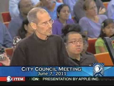 Steve Jobs Cuppertino City Council Meeting