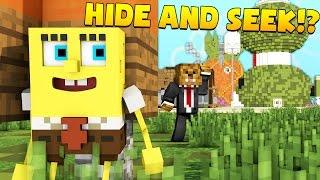 Minecraft SPONGEBOB MODDED HIDE N' SEEK (ON BIKINI BOTTOM)