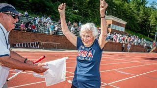 "Julia ""Hurricane"" Hawkins became the oldest female athlete to ever compete in the USA Track and Field Outdoors Masters ..."