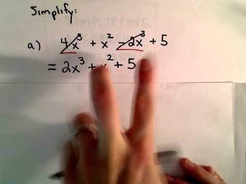 Vereinfachen Sie einen algebraischen Ausdruck durch Kombination Wie AGB