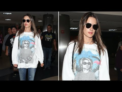 How Much Do You Think Alessandra Ambrosio's Kurt Cobain Shirt Costs?!